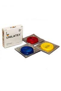 Презервативы цветные ароматизированные Unilatex Multifruits, 3 шт.